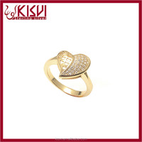 925 sterling silver gold jewelry jewellery turkish heart shape ring rose gold with great price