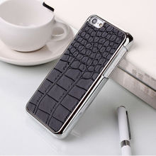 Crocodile pattern leather mobile phone case for iphone 6