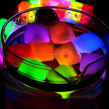 Waterproof led glow ice cube for party and bar SJIC-009