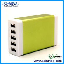 USB travel charger factory promotion 5 usb international travel charger