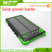 Factory price solar panel 5V 2.1A dual USB portable mobile solar power bank 30000 mah for mobile phones