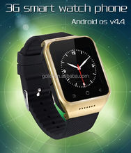 Android 4.4 dual sim card watch mobile phone, wrist watch phone android smart watch