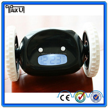 Creative new digital LED runaway running alarm clock/running alarm clock/digital rolling alarm clock