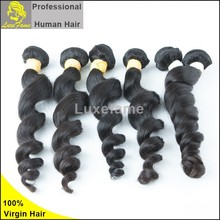 Guangzhou factory price 6a indian hair bundle 30inch loose wave hairstyle for women 100% raw human virgin indian hair