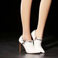 newest handmade women high heel silver pumps evening dress shoes footwear