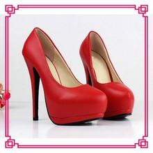 2014 New Design Red Women High Heel Platform Pump bridal red high heel wedding shoes womens red wedding shoes