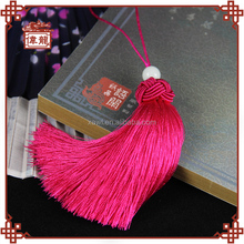 Top quality low cost purely handmade lucky ball tassel earrings diy ZGJ3002