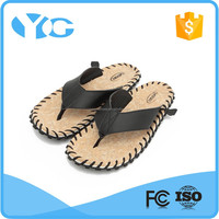 handmade sewing and adhesive mens leather slippers and sandals