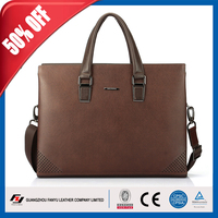 Product in stock!cowhide 100% genuine leather laptop bag specification, waterproof laptop bag