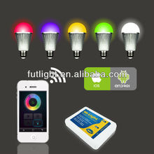 wifi led bulb,no distance limitation,no any setting of wifi router,auto connect