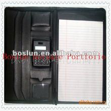 Leather folder A4 with calculator for 2012