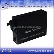 Hot sale Fast Ethernet Fiber Optical Media converter, Single Fiber, SC connector , SM, 25km, 1*9,internal power supply