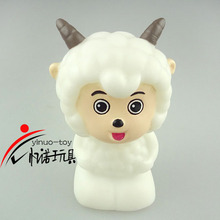 YINUO LED toys 5.5*4.5*8 cm happy sheep Eco-friendly PVC toy plastic vinly kid toy