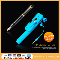 wholesale 2015 Icanany Mini3 Supreme mini Cable Take Pole,world's most mini pocket size selfie stick