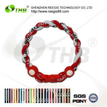 baseball sports negative ion titanium bracelet for women