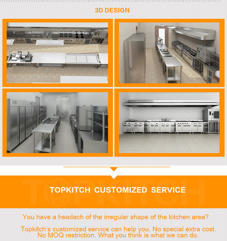 Stainless Steel Commercial Modern Design Kitchen, Kitchen Cabinet Furniture, Kitchen Project for Sale with Price