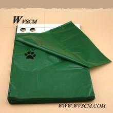 Green color 4rolls cardborad pack 60counts dog waste bag for private label manufacture