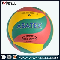 promotional beach colorful cheap price micro fiber laminated volleyball