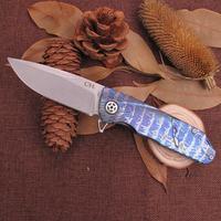 Folding Pocket Knife with Titanium Handle pocket knife