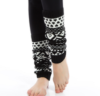 50256 New Arrivals 2015 Whosale Women Girls Knitted Long Pastoralism Muti Color Toe Sox Pirouette Leg Warmer