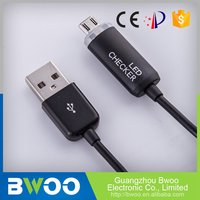 Competitive Price New Design Superior Quality Visible Flow Led Light Usb Charging Sync Cable For
