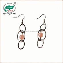 promotional wholesale lastest design gold epoxy yellow color zin alloy earring