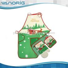 Navidad accesorios de cocina delantal juego de regalo