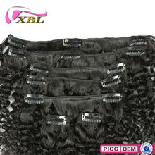 New Arrival Curly Virgin Peruvian Hair One Piece Clip In Human Hair Extensions