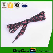 2015 New design polyester Flat Eco-friendly shoelaces for Sport Shoes