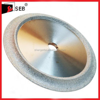 "6"" Diamond Profile Wet Grinding Wheel, 3/8"" Radius"