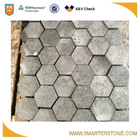 Customised hexagon outdoor granite paver