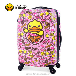Best quality branded colourful cute luggage for girls