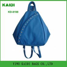 KD8198 newest Cute Pu triangle shaped backpack