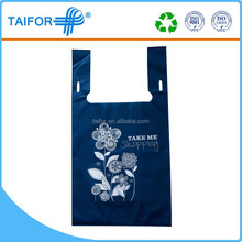 soft loop handle folding shopping bag nonwoven recycle bag
