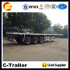 3 axle 20ft and 40ft platform container semi truck trailer