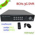 Mais econômico H.264 8 Chs D1 em tempo real CCTV DVR 8 canais DVR H 264