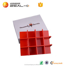 Ireland Best Sell fine workmanship lovely inner paper tray 16 pcs divide luxury gift box for chocolate