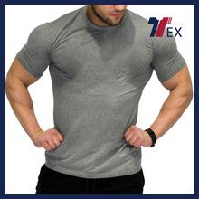 Wholesale fitness fashion oversized low moq men tshirt/body slim wear athletic apparel manufacturers