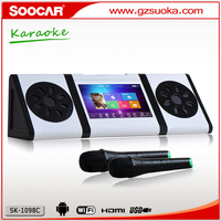 Android 4.2 Karaoke media player with VHF wireless MIC 1TB HDD USB SD
