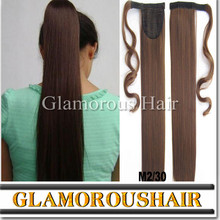 2015 new hair products ponytail dark brown natural color hair
