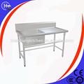 muebles de cocina material de construcción de cocina fregadero sola mesa fregadero con escurridor 1