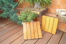Outdoor Deck Floor Covering Strand Woven Bamboo Decking Tile Unit Carbonized Color-KE-OS0825