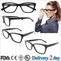 Mulheres clássicas e homens acetato miopia óculos de armação integrais óptica atacado moda Frame ótico