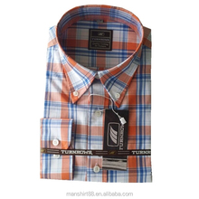 100% cotton big plaid mens casual shirts