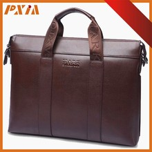 China High Quality Fashion Gentlemanly Brown Hard Briefcase Handbag Leather PU Laptop Bags