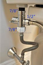 """7/8"""" Brass Material T-adapter Diverter Bathroom Toilet Bidet Sprayer Douche Kit"""