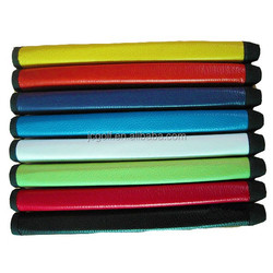 colorful high quality cowhide leather golf putter grips