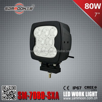 sammoon 80W SM-7080- Heavy Duty SXA 7InchLED work light for truck, agricultural, machine, heavy duty, boat, marine
