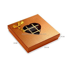Luxuly and romantic square empty chocalate gift box for girl friend with heat-shaped window