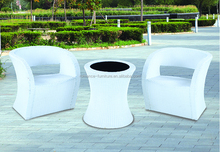 high back rattan chairs with round rattan coffee table outdoor patio furniture
